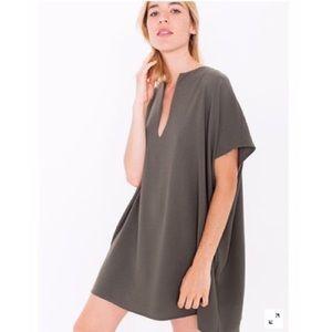 American apparel Adia dress olive green